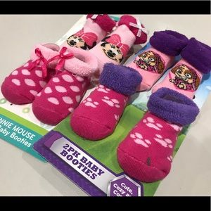 Other - Bundle of 2 Baby Booties Minnie Mouse/Paw Patrol